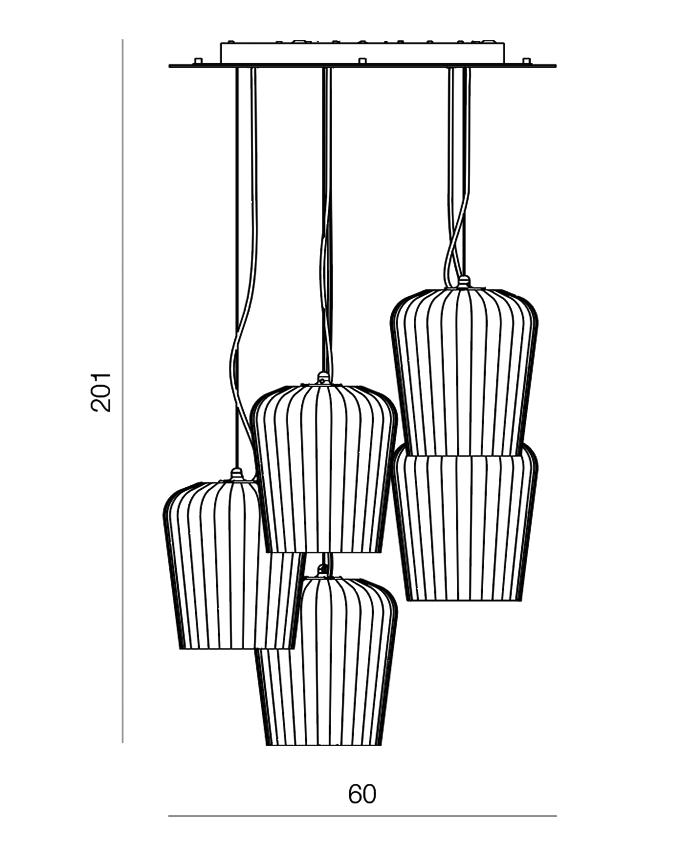 Plissè L5-E5C giarnieri lighting
